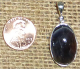 STERLING SILVER DAY AND NIGHT (IOLITE/SUNSTONE) PENDANT #18