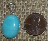 STERLING SILVER AMAZONITE PENDANT #20