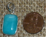 STERLING SILVER AMAZONITE PENDANT #18