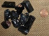 BLACK TOURMALINE CRYSTALS (MADAGASCAR) #8