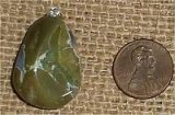 STERLING SILVER MT. HAY THUNDEREGG/AMULET STONE/STAR AGATE PENDANT #13