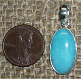 STERLING SILVER AMAZONITE PENDANT #21