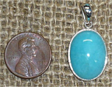 STERLING SILVER AMAZONITE PENDANT #9