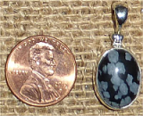 STERLING SILVER SNOWFLAKE OBSIDIAN PENDANT #8