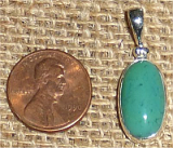 STERLING SILVER GEM SILICA PENDANT #7