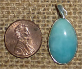 STERLING SILVER AMAZONITE PENDANT #29