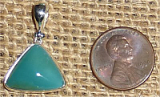 STERLING SILVER GEM SILICA PENDANT #8