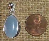 STERLING SILVER ANGELITE PENDANT #9