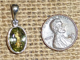 STERLING SILVER SILLIMANITE PENDANT #7