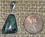 STERLING SILVER RUBY IN ZOISITE/ANYOLITE PENDANT #7