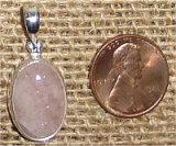 STERLING SILVER MORGANITE PENDANT #23