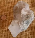 CLEAR QUARTZ/TOURMALINE CRYSTAL CLUSTER #27