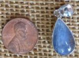 STERLING SILVER DUMORTIERITE IN QUARTZ PENDANT #8