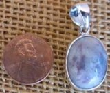 STERLING SILVER AMAZONITE/RED AMAZONITE PENDANT #4 (MELODY)