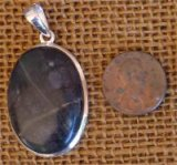 STERLING SILVER PICASSO STONE/PICASSO MARBLE PENDANT #8