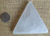 SATIN SPAR SELENITE SMALL TRIANGLE CLEANSING AND RECHARGING PLATFORMS #13