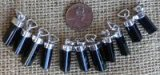 STERLING SILVER BLACK TOURMALINE PENDANTS #3