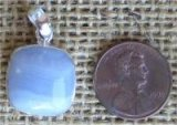 STERLING SILVER BLUE LACE AGATE PENDANT #21