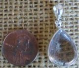 STERLING SILVER COVELLITE IN QUARTZ PENDANT #3