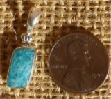 STERLING SILVER AMAZONITE PENDANT #16