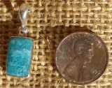 STERLING SILVER AMAZONITE PENDANT #5