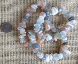 MULTI-COLORED MOONSTONE STRETCHY BRACELETS #1
