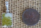 STERLING SILVER SCOTTISH GREENSTONE PENDANT #4