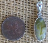 STERLING SILVER SCOTTISH GREENSTONE PENDANT #5