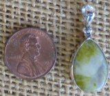 STERLING SILVER SCOTTISH GREENSTONE PENDANT #7