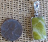 STERLING SILVER SCOTTISH GREENSTONE PENDANT #9