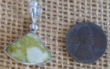 STERLING SILVER SCOTTISH GREENSTONE PENDANT #12