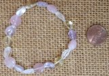 ROSE QUARTZ/CLEAR QUARTZ/CITRINE/AMETHYST STRETCHY BRACELETS #1