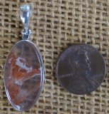 STERLING SILVER ORANGE ELESTIAL QUARTZ PENDANT #8