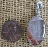 STERLING SILVER ORANGE ELESTIAL QUARTZ PENDANT #11