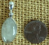 STERLING SILVER SULPHUR-INCLUDED QUARTZ PENDANT #3