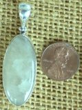 STERLING SILVER SULPHUR-INCLUDED QUARTZ PENDANT #9