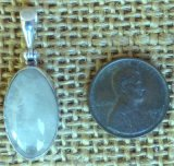 STERLING SILVER SULPHUR-INCLUDED QUARTZ PENDANT #5