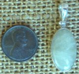 STERLING SILVER SULPHUR-INCLUDED QUARTZ PENDANT #6