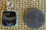 STERLING SILVER NOBLE SHUNGITE PENDANT #35