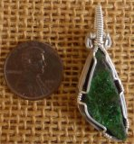 WIRE WRAPPED (STERLING SILVER) UVAROVITE PENDANT #7