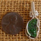 WIRE WRAPPED (STERLING SILVER) UVAROVITE PENDANT #9