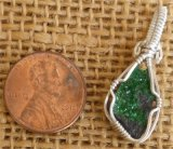 WIRE WRAPPED (STERLING SILVER) UVAROVITE PENDANT #11