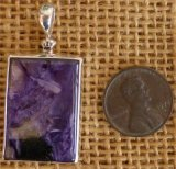 STERLING SILVER CHAROITE WITH TINAKSITE PENDANT #18