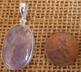 STERLING SILVER MOZARKITE PENDANT #4