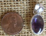 STERLING SILVER COLOR-ZONED AMETHYST PENDANT #4