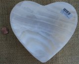 WHITE ARAGONITE HEART BOWL #1