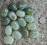 GREEN CALCITE TUMBLES #1