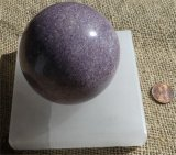"SATIN SPAR SELENITE 4"" x 4"" SQUARE SPHERE HOLDERS #14"