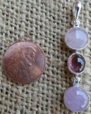 STERLING SILVER MORGANITE, PINK TOURMALINE, AND KUNZITE PENDANT #6