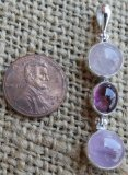 STERLING SILVER MORGANITE, PINK TOURMALINE, AND KUNZITE PENDANT #7